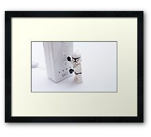 stormtroopers cant play on the wii Framed Print