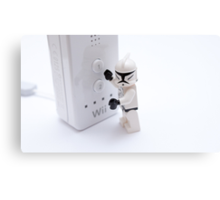 stormtroopers cant play on the wii Canvas Print