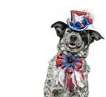 Patriotic Cattle Dog by Bobby Acree