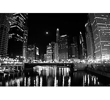 Chicago by Night Photographic Print