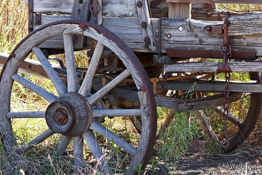 Wooden Wheel by Julia Washburn