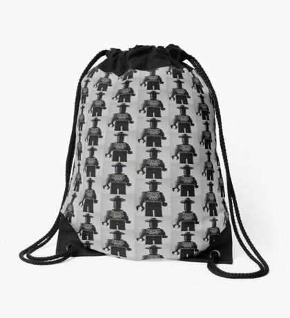 Custom Cyber Droid Shadow Soldier Minifig Drawstring Bag