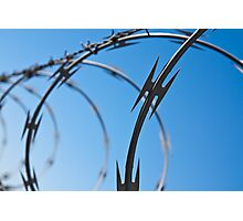 Barbed Wire Abstract Photographic Print