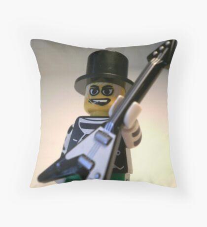 Guitarist Custom Minifigure with Guitar Throw Pillow
