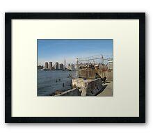 Manhattan from East River Framed Print