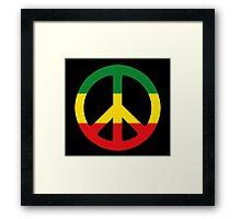 Peace - Rasta colours Framed Print