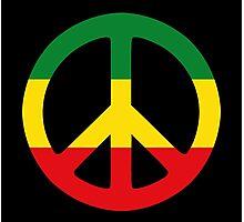 Peace - Rasta colours Photographic Print