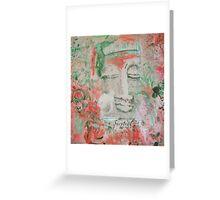 RED Chakra Buddha #1 Greeting Card