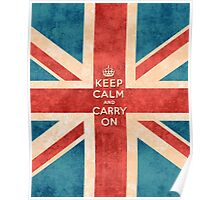 Keep Calm and Carry On Vintage Union Jack Flag Poster