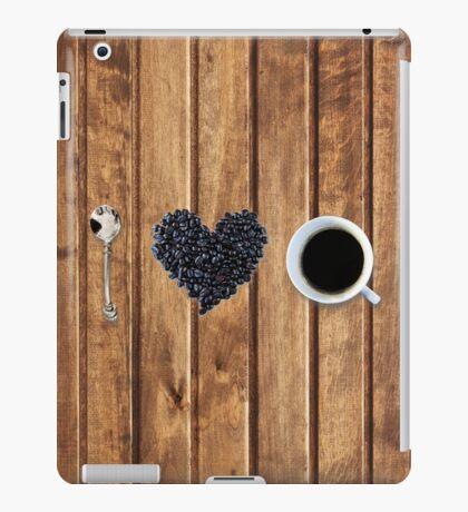 I love coffee on wood iPad Case/Skin