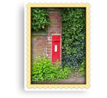 Rural Postbox Canvas Print