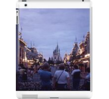 Night time Shot of Castle at Walt Disney World circa 1979 iPad Case/Skin