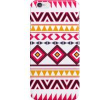 Red teal Aztec Tribal Diamond geometric Pattern iPhone Case/Skin