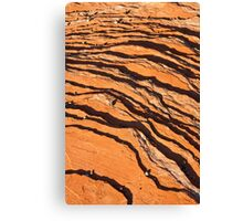 Striated Rocks Canvas Print