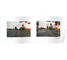 Crenshaw Boulevard + Martin Luther King, Jr. Boulevard (II), California, USA...narrowed. Poster