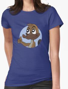 Platypus giving thumbs up cartoon Womens Fitted T-Shirt