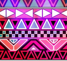 Neon Pink Purple Bright Andes Abstract Aztec Pattern Sticker