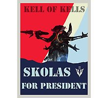 Skolas for President Photographic Print