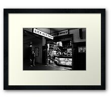 A clever tongue Framed Print