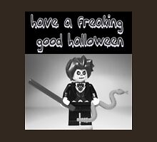 """Have a Freaking Good Halloween"" Custom Evil Magician Greeting Card Unisex T-Shirt"