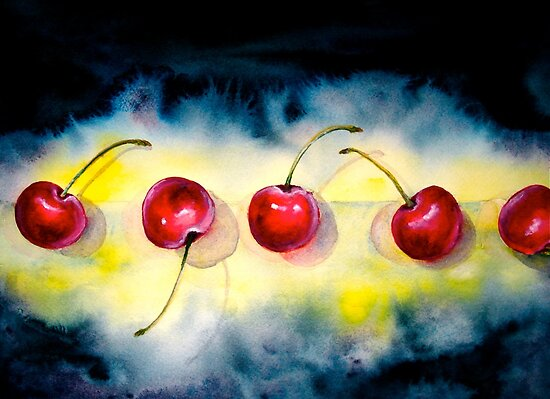 Cherries...The Line-Up by ©Janis Zroback
