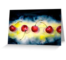 Cherries...The Line-Up Greeting Card
