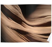 Antelope Canyon wall texture Poster