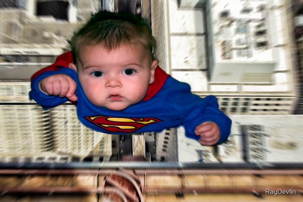 Baby dressed as Superman by RayDevlin