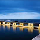 Merewether Ocean Baths at Night by Katherine Williams