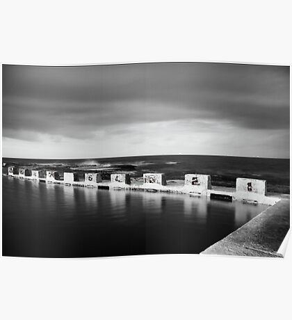 Merewether Ocean Baths at Night Poster