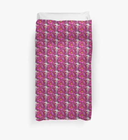 Pink Daisies Patch Duvet Cover