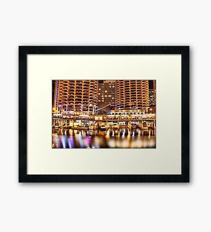 Marina City  Corn Skyscraper in Chicago Framed Print