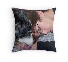 Callie giving some love! Throw Pillow