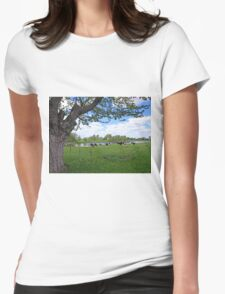 A true country scene Womens Fitted T-Shirt