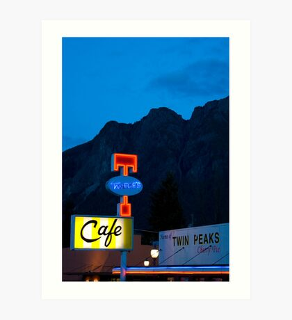 Twin Peaks Diner Art Print