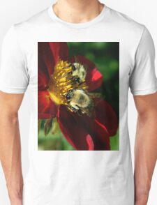 (Feeding on a flower) I'm falling through the universe again.. The love I feel as I fly endlessly through space.. Unisex T-Shirt