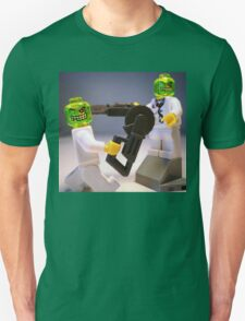 Doctor Toxic with Chainsaw, Custom Minifig Unisex T-Shirt