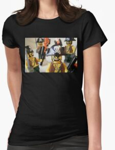 Pirate Captain Minifigure with Flame Torch Womens Fitted T-Shirt