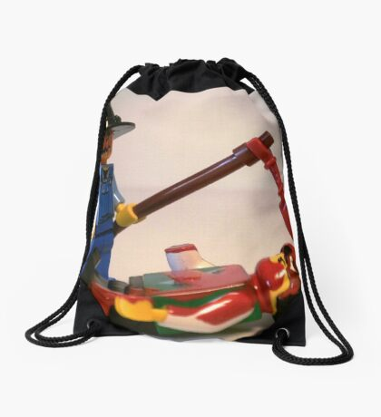 Scary Halloween Scarecrow Custom Minifigure Drawstring Bag