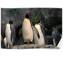 Penguins on Watch Poster