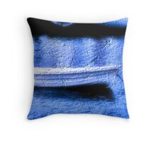 little white dingy   Throw Pillow