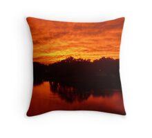 sunset lake orion michigan Throw Pillow