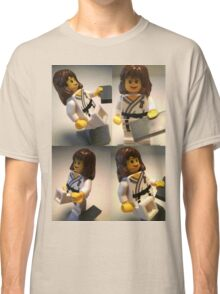 Judo Karate Martial Arts Girl Custom Minifigure  Classic T-Shirt