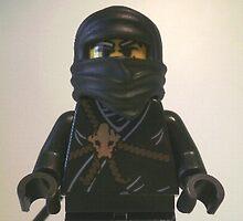 Black Ninja Custom Minifigure by Customize My Minifig