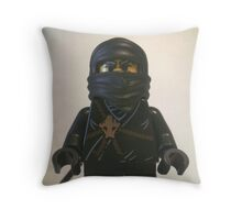 Black Ninja Custom Minifigure Throw Pillow
