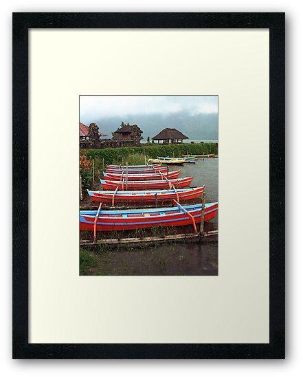 Bali Fishing Boats by Michael  Moss