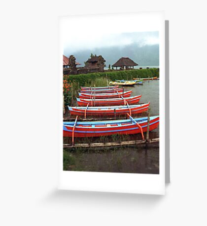 Bali Fishing Boats Greeting Card