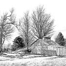 A  country scene in winter by marchello