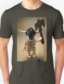 White Skeleton Viking and Custom Axe, Custom Minifigure Unisex T-Shirt