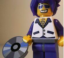DJ Clubbing Tru Son of Disco Stu Custom Minifigure with CD by Customize My Minifig